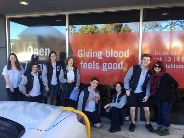 Year 12 SRC Blood drive
