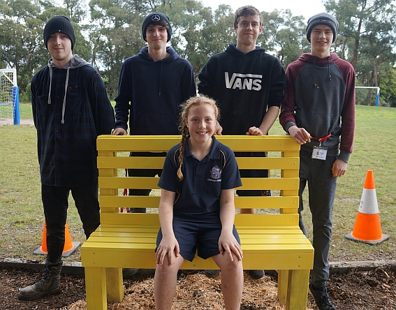 Thank you to VCAL studenst for the Playground seat