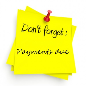 Upcoming Payment Due Dates