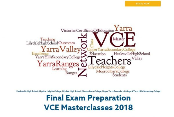 Masterclass Sessions for VCE Units 3&4